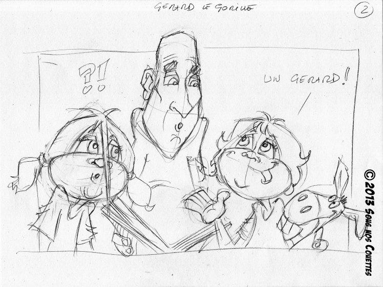 Gérard le gorille [croquis] - 1ère partie