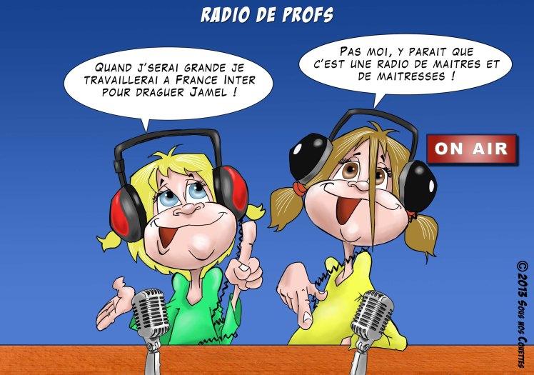 Sous nos Couettes sur France Inter (dessin Jamel)