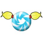 bouton twitter couettes