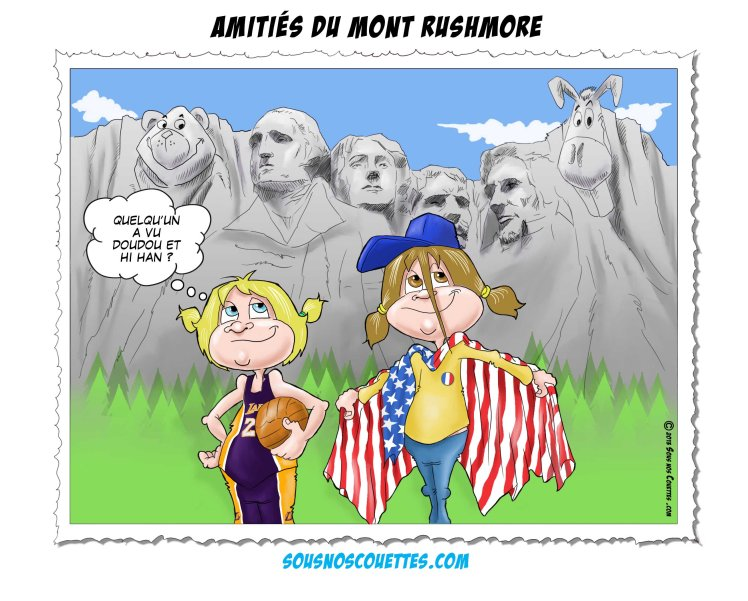 carte postale mont rushmore version francaise