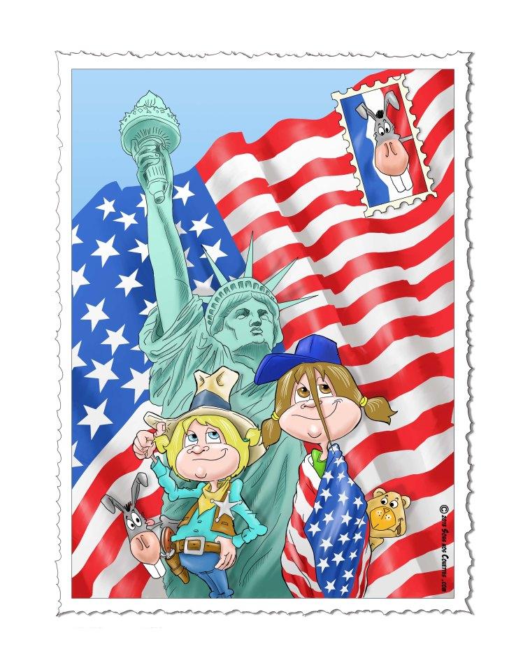 carte postale statue liberté 2 version francaise