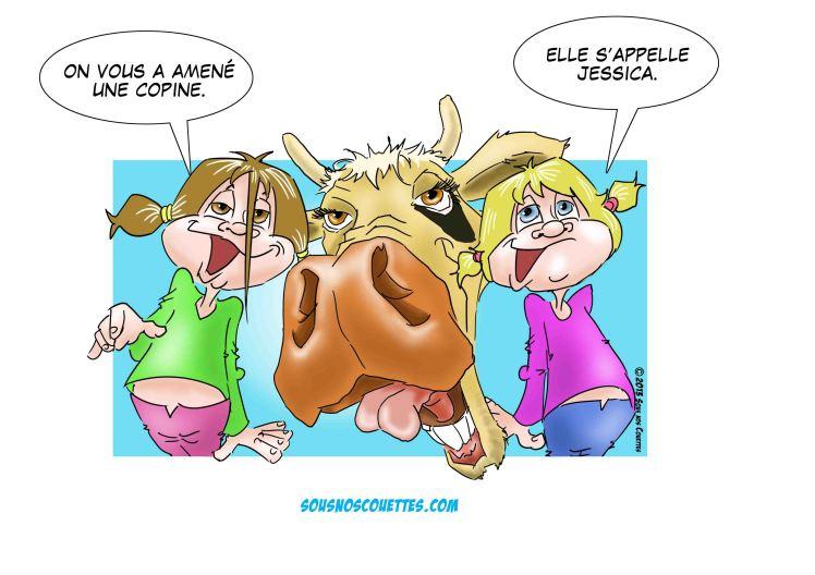 filles et vache